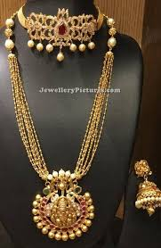gold chain necklace long images A beautiful south indian jewellery featured here is one of the jpg