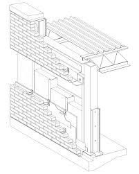 cavity wall brick veneer steel stud