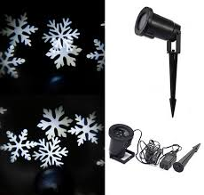 white snowflake landscape projector outdoor spotlights