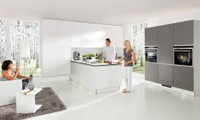 white and grey kitchen grey white matt kitchen in a contemporary true handleless style