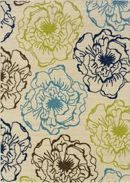 6 X 6 Round Area Rugs by Blue Floral Area Rug Roselawnlutheran