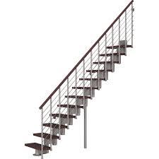 bausatz treppe bausatztreppe komoda gerade 12 stufen buche dunkel inkl geländer