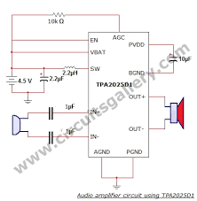 simple home audio power amplifier circuit schematic circuits