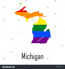 Map Of Michigan by Vector Rainbow Map Michigan Colors Lgbt Stock Vector 348035186