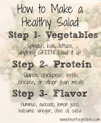 how to make a healthy salad i heart vegetables