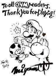 supper mario broth shigeru miyamoto u0027s sketch for the last issue