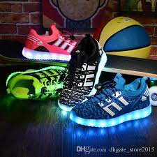 light up shoes size 4 rechargable kids shoes with usb sneakers children light up led shoes