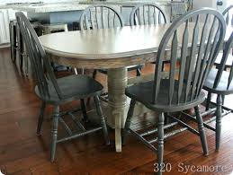 painted dining room set painted oak table painting dining room chairs painted oak table