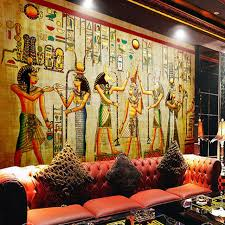 egyptian wall painting vintage photo wallpaper custom 3d wall