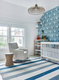 Sailboat Wallpaper Blue Nautical Nursery With Sailboat Wallpaper Transitional Nursery