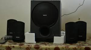 sony home theater subwoofer sony sa d100 multimedia speaker system unboxing and sound test