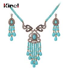 vintage wedding jewelry necklace images Kinel luxury vintage wedding jewelry sets antique gold crystal jpg