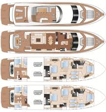 Yacht Floor Plan by Standard Specificaiton 2015 Princess 98 Flybridge