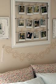 The Home Interior Polaroid Pictures Inside A Wooden Frame Cute Diy Idea For The
