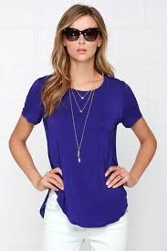 royal blue blouse top royal blue t shirt blue top 39 00