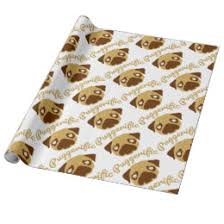 pug wrapping paper pug wrapping paper zazzle au