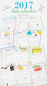 2017 fun and colorful free printable desk calendar