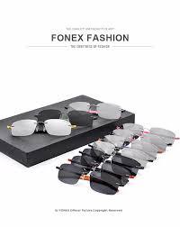 Optical Frame Tagged Glasses Fonex Rimless Sun Glasses Titanium Memory Tr90 Brand Designer
