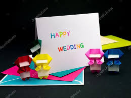 message card for your family and friends happy wedding stock