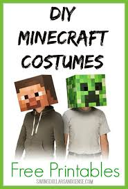 Printable Halloween Masks For Children by Best 25 Minecraft Mask Ideas On Pinterest Mine Craft Party