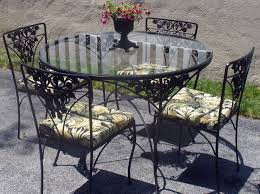 Wrought Iron Patio Furniture Vintage Vintage Patio Chairs Blue Relax On The Terrace With Vintage