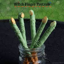 witch finger pretzels simply sated