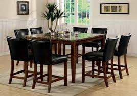 tall kitchen table and chairs high marble top dining table dining room ideas