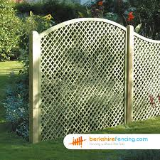 convex diamond trellis fence panels 4ft x 6ft natural berkshire