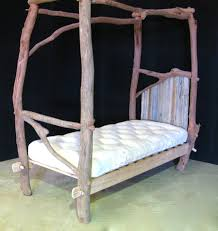 rustic single four poster bed u2013 richard knight woodworks