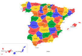 map of province provinces of spain