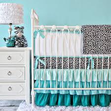 Girly Crib Bedding Caden Baby Bedding The Aqua Ruffle Crib