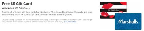 5 gift cards best buy purchase 50 in select third party giftcards get a 5