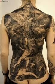 full back cover up with realistic angel tattoo golfian com