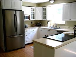 White Kitchen Dark Island Dark Kitchen Cabinets With White Appliances Nucleus Home