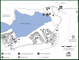 State Park Map by Woodford State Park On Adams Reservoir Vermont Fish And W