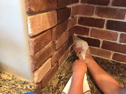 How To Put Up Kitchen Backsplash by Do It Yourself Brick Veneer Backsplash Sunroom Bricks And Tutorials
