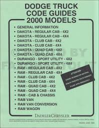 2000 dodge durango repair shop manual original