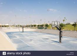 outdoor basketball court at the qatar education city doha qatar