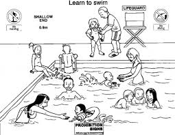 pool safety coloring pages best coloring pages 2017 for water