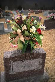 gravesite decorations headstone saddle cemetery flowers grave decorations