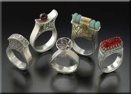 art silver rings images Art works artist lora hart mixed media jewlery fine silver jpg