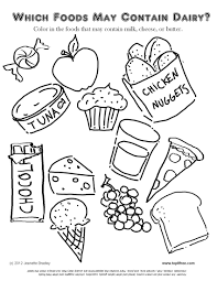 free coloring pages food worksheet kids itgod