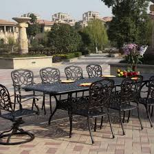 wrought iron dining room sets wrought iron patio dining sets home design ideas