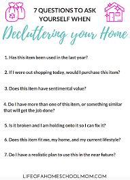7 questions to ask yourself when decluttering your home
