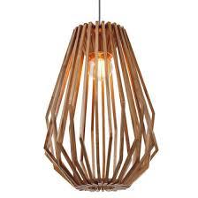 Wood Veneer Pendant Light Fiorentino Ragusa Wood Veneer Small Pendant Light