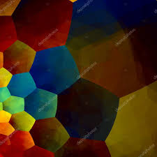 mosaic abstract background generative art red blue yellow color