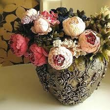 peony silk flower bouquet peony artificial flower arrangements