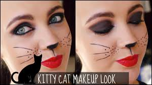 kitty cat makeup tutorial for halloween youtube