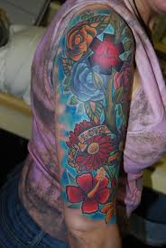 flower sleeve tattoos flower half sleeve tattoos for