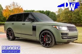 matte range rover eric ebron matte green range rover u2014 dreamworks motorsports